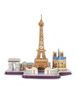 3D пазл CubicFun City Line Paris